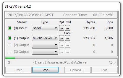 Using STRSVR from RTKLIB with SNIP - SNIP Support