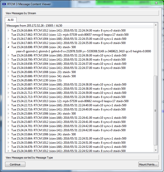 Using the RTCM3 Decoder Dialog - SNIP Support